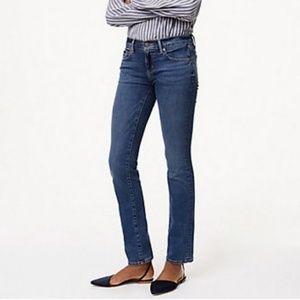 LOFT Modern Straight Leg Jeans Mid Rise Size 29